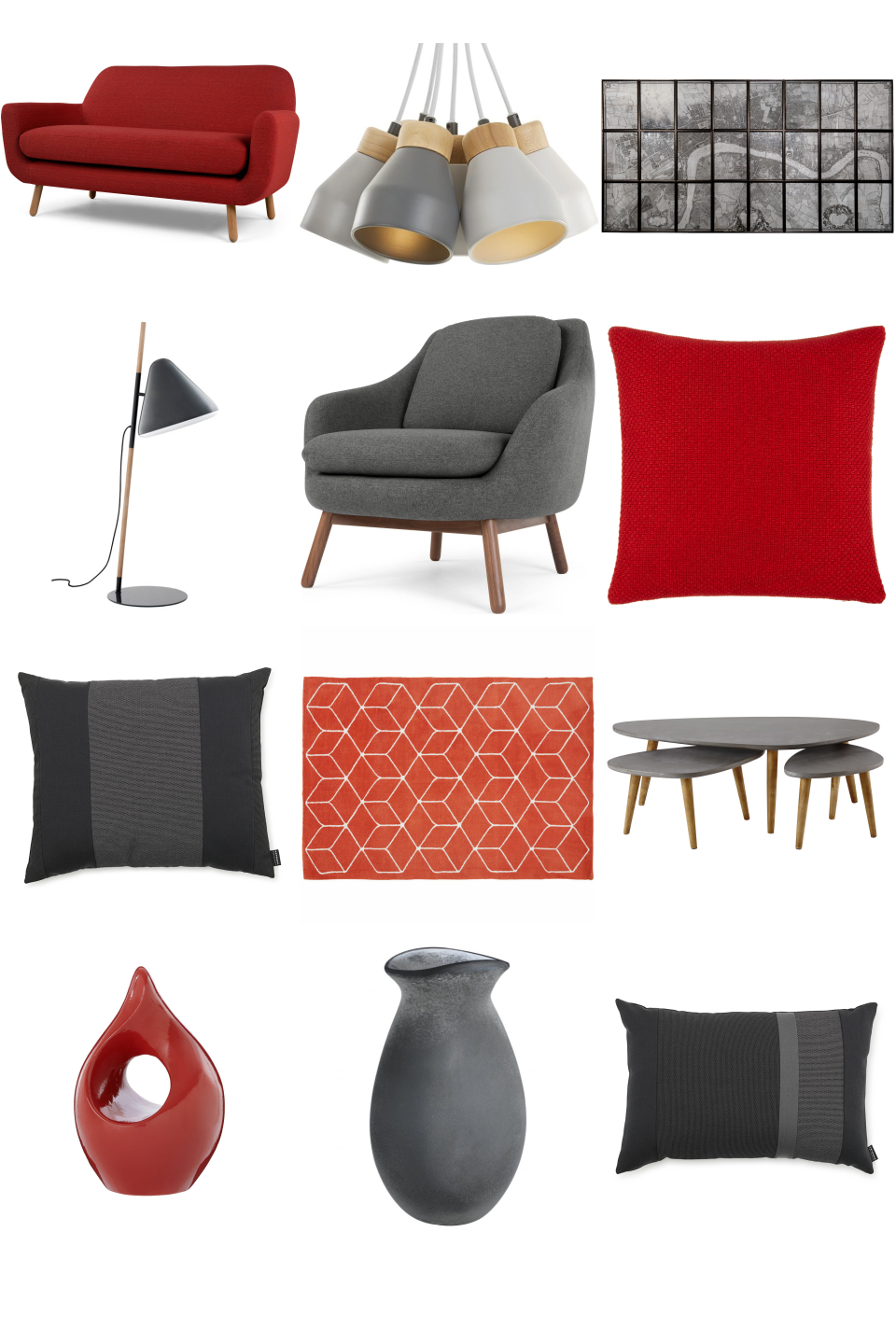 Red And Grey Living Room Furnishful S Living Room Ideas Inspiration Boards Furnishful
