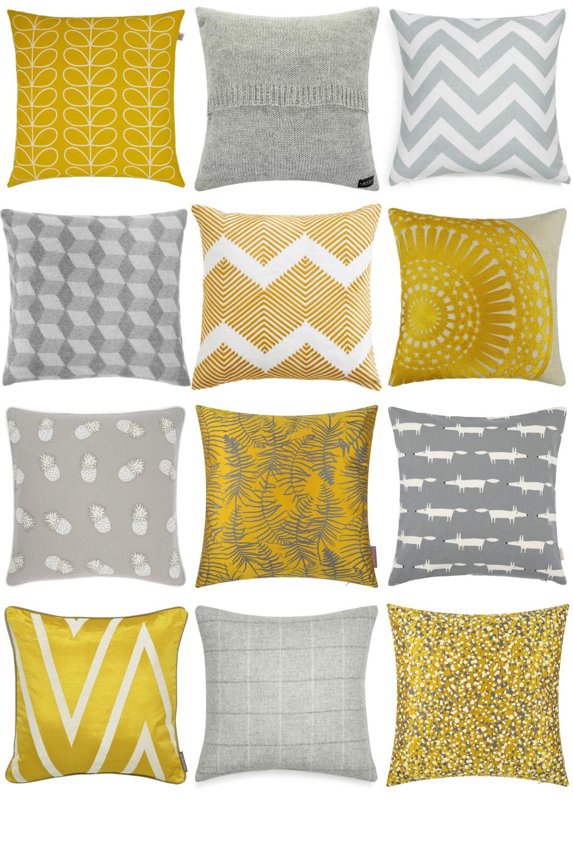 Yellow And Grey Cushions Furnishful S Home Furnishing