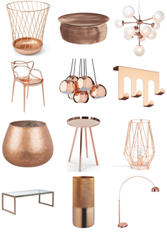 Rose Gold and Copper Décor
