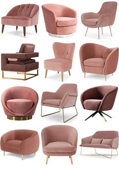 Lush Blush Statement Chairs