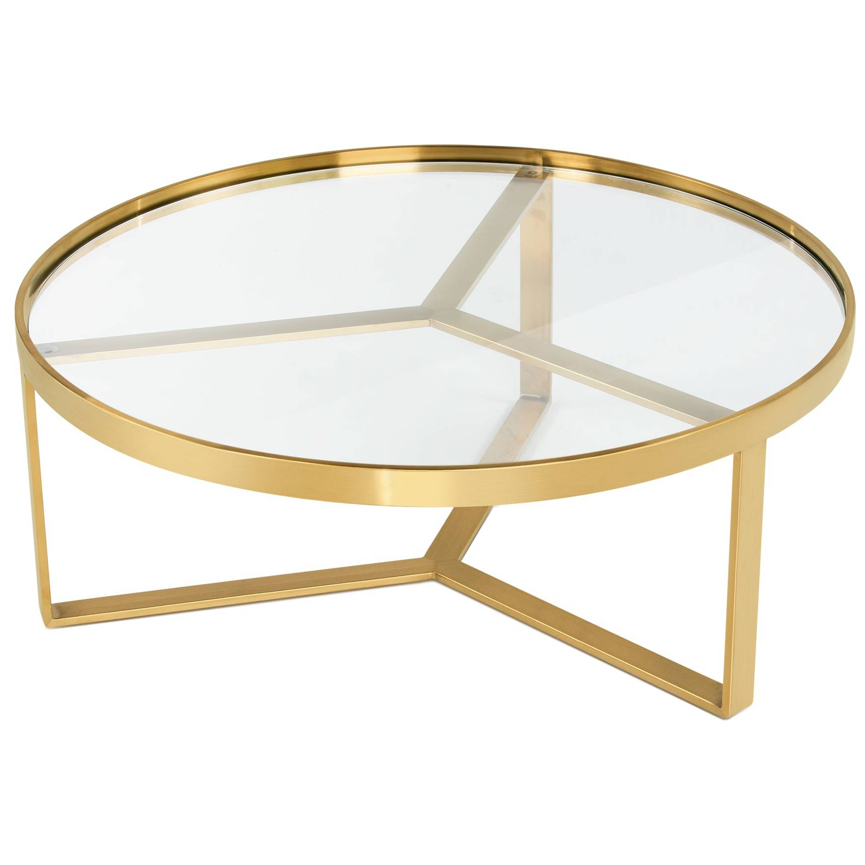 Origami Side Table - Glass/Antique Brass | west elm | Buy coffee ... | 1750x1750