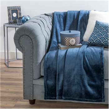 ÉLISE soft blue throw (130 x 170cm)