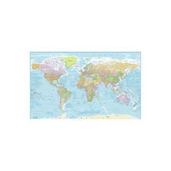 1Wall World Map Wall Mural