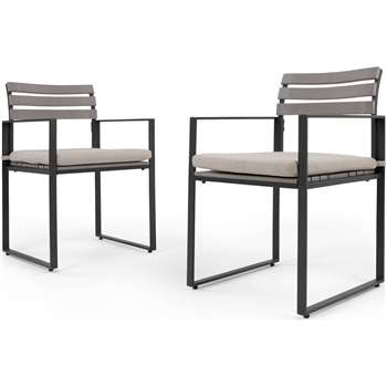 2 x Catania Outdoor Dining Chair, Polywood (82 x 52cm)