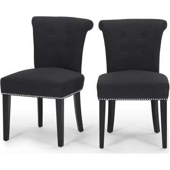 2 x Celia Dining Chair, Midnight Black (84 x 64.5cm)