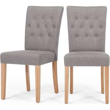2 x Flynn Dining Chairs, Graphite Grey (95 x 45cm)
