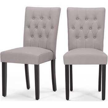 2 x Flynn Dining Chairs, Pewter Grey (95 x 45cm)
