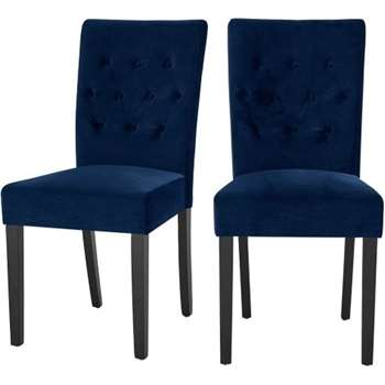 2 x Flynn Dining Chairs, Royal Blue Velvet (95 x 45cm)