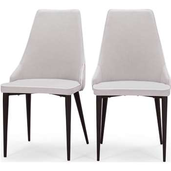 2 x Julietta Dining Chairs, Cloud Grey (93 x 48cm)