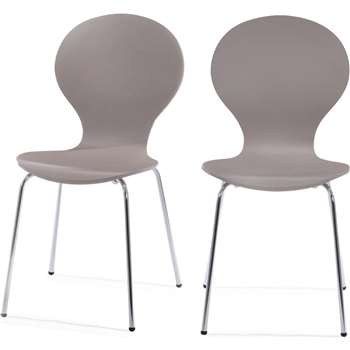 2 x Kitsch Dining Chairs, Willow Grey (87 x 46cm)