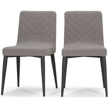 2 x Lex Dining Chairs, Graphite Grey (83 x 47cm)