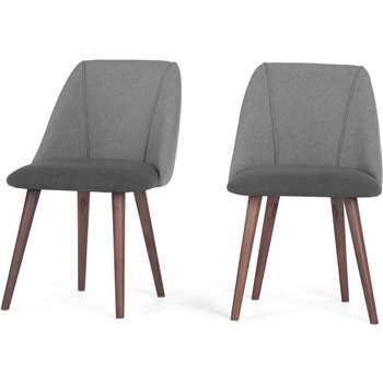 2 x Lule Dining Chairs, Marl and Hail Grey (83 x 53cm)