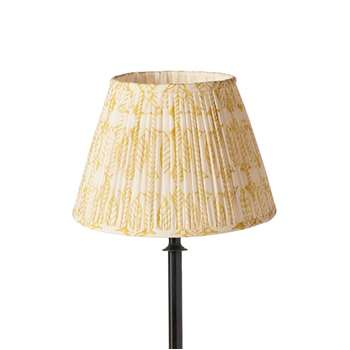 25cm Pleated Daun Cotton Lampshade - Turmeric (18 x 25cm)