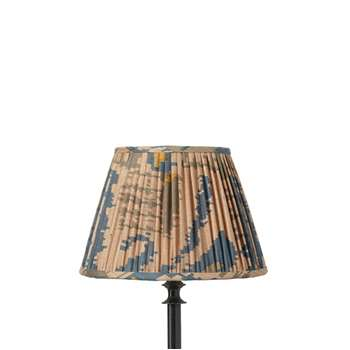 25cm Pleated Madura Silk Empire Lampshade - Blue (18 x 25cm)