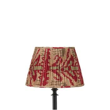 25cm Pleated Madura Silk Empire Lampshade - Red (18 x 25cm)