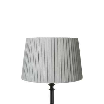 30cm Pleated Linen Lampshade - Grey Blue (20 x 30cm)