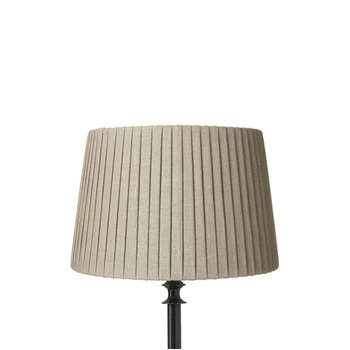 30cm Pleated Linen Lampshade - Natural (20 x 20cm)