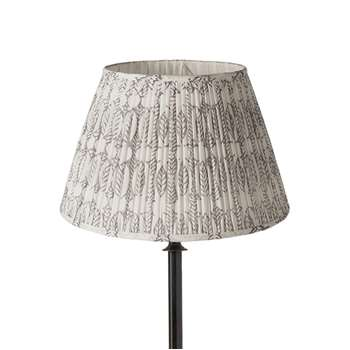 35cm Pleated Daun Cotton Lampshade - Poppy Seed (23 x 35cm)