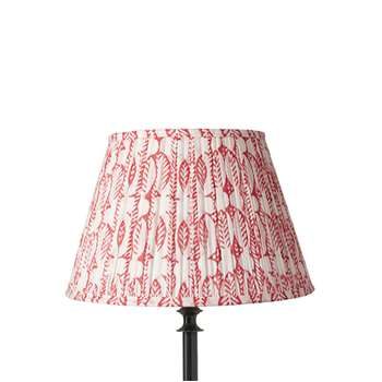 35cm Pleated Daun Cotton Lampshade - Watermelon (23 x 35cm)