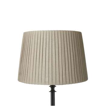 35cm Pleated Linen Lampshade - Natural (24 x 35cm)