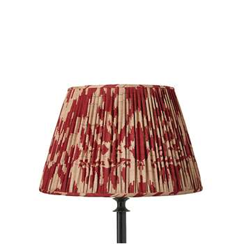35cm Pleated Palau Silk Empire Lampshade - Red (23 x 35cm)