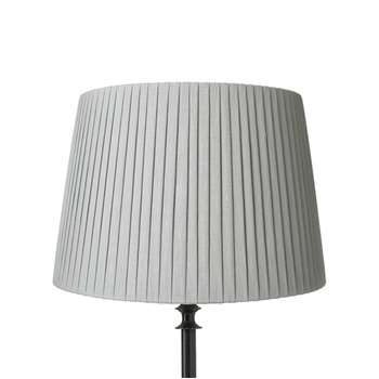 40cm Pleated Linen Lampshade - Grey Blue (28 x 40cm)