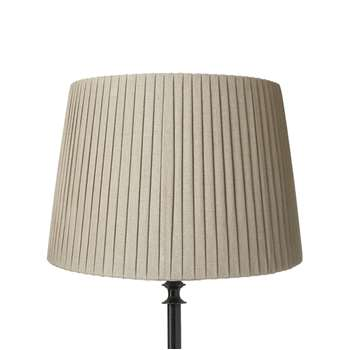40cm Pleated Linen Lampshade - Natural (28 x 40cm)