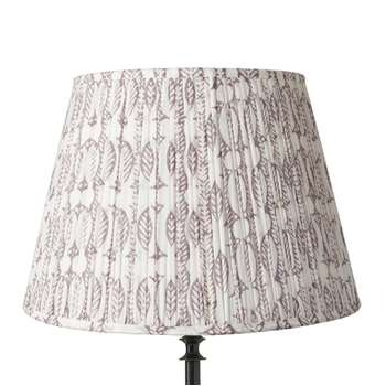 45cm Pleated Daun Cotton Lampshade - Poppy Seed (31 x 45cm)