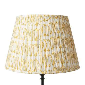45cm Pleated Daun Cotton Lampshade - Turmeric (31 x 45cm)
