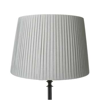 45cm Pleated Linen Lampshade - Grey Blue (31 x 45cm)