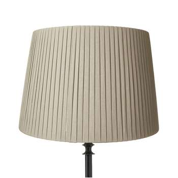 45cm Pleated Linen Lampshade - Natural (31 x 45cm)