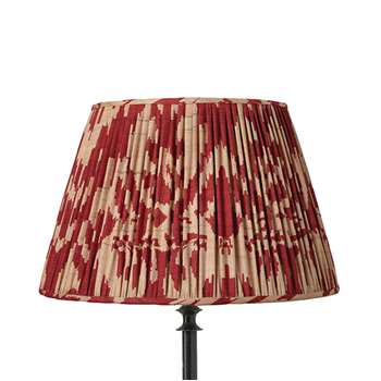 45cm Pleated Palau Silk Empire Lampshade - Red (31 x 45cm)