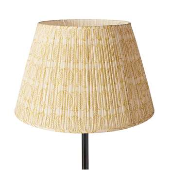 50cm Pleated Daun Cotton Lampshade - Turmeric (33 x 50cm)