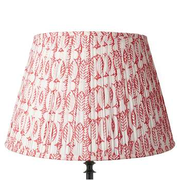 50cm Pleated Daun Cotton Lampshade - Watermelon (33 x 50cm)