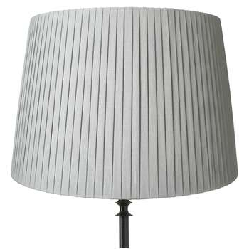 50cm Pleated Linen Lampshade - Grey Blue (34 x 50cm)