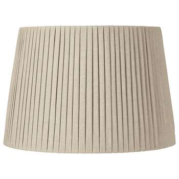 50cm Pleated Linen Lampshade - Natural (H34 x W50 x D50cm)