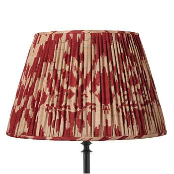 50cm Pleated Palau Silk Empire Lampshade - Red (33 x 50cm)