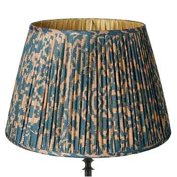 50cm Tenganan Pleated Lampshade - Atlantic (33 x 50cm)