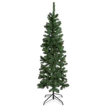 6Ft Slim Lit Nordic Spruce Tree (H182.9 x W61 x D61cm)
