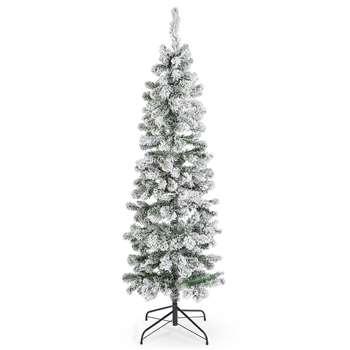 6Ft Slim Snowy Tree (H182.9 x W61 x D61cm)