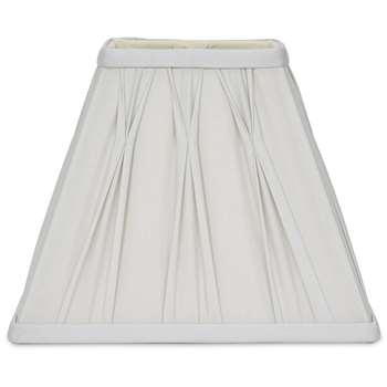 7.5 Inch Fenn Square Silver Silk Shade