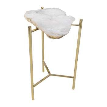 A by Amara - Agate Slab Table (H54 x W33 x D33cm)