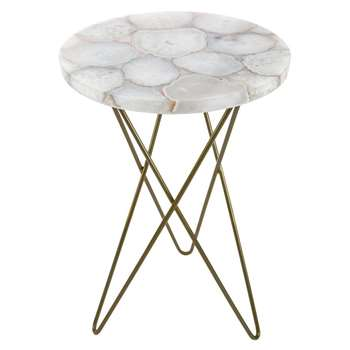 A by Amara - Agate Table (H58 x W40.5 x D40.5cm)