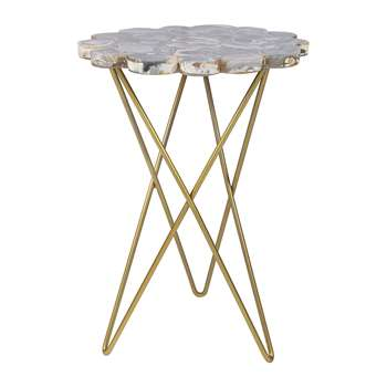 A by Amara - Agate Table - Dark (H59 x W42 x D42cm)
