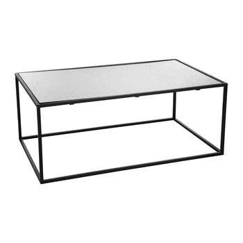 A by Amara - Aged Glass Table (80 x 90cm)