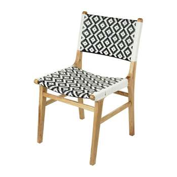A by Amara - Ashlyn Chair - Black/White (H87 x W56cm)