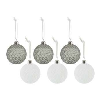 A by Amara - Assorted Diamond Baubles - Set of 6