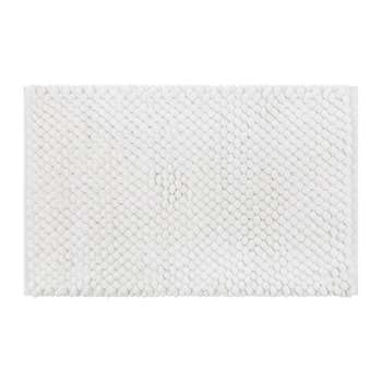 A by Amara - Bobble Bath Mat - White (H50 x W80cm)