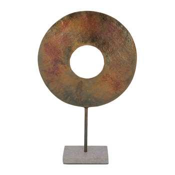 A by Amara - Bronze Ring Decorative Ornament (H59 x W36 x D10cm)