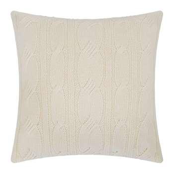 A by Amara - Cable Knit Cushion - Cream (H45 x W45cm)